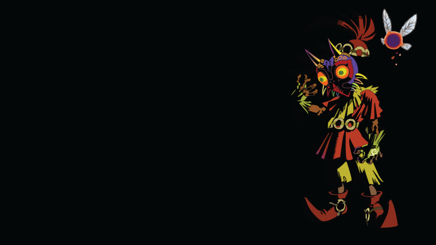 Skull Kid and Tael Black Background by Oldhat104 900x506