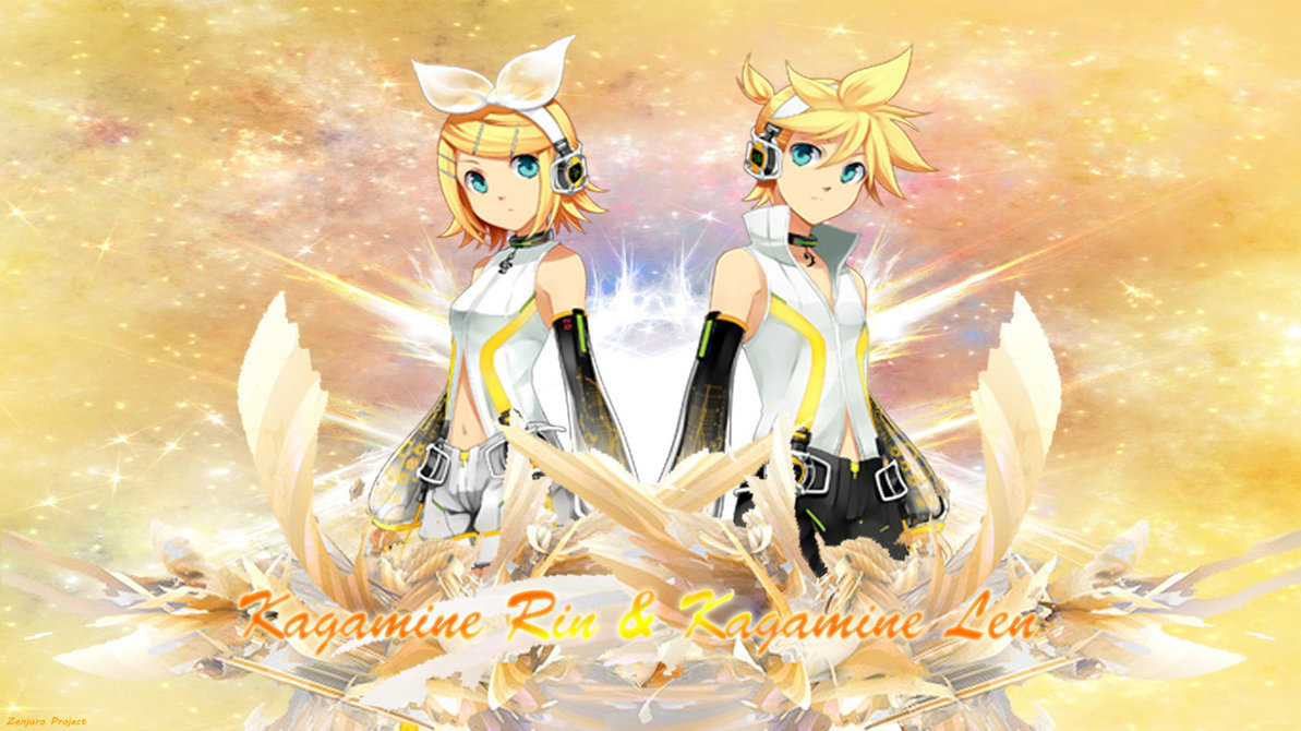 Kagamine RinLen Wallpaper by zenjuroproject 1193x670