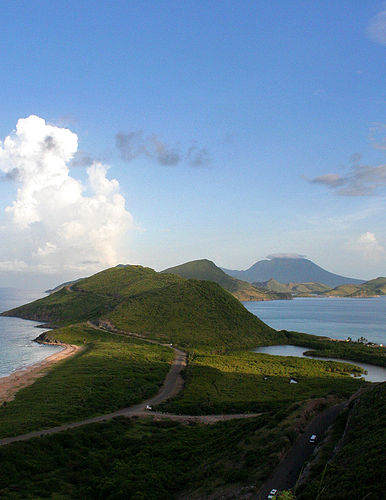South East St Kitts with Nevis in the background Flickr   Photo 386x500