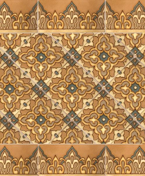 Moroccan tile wallpaper wallpapersafari for Moroccan style wallpaper