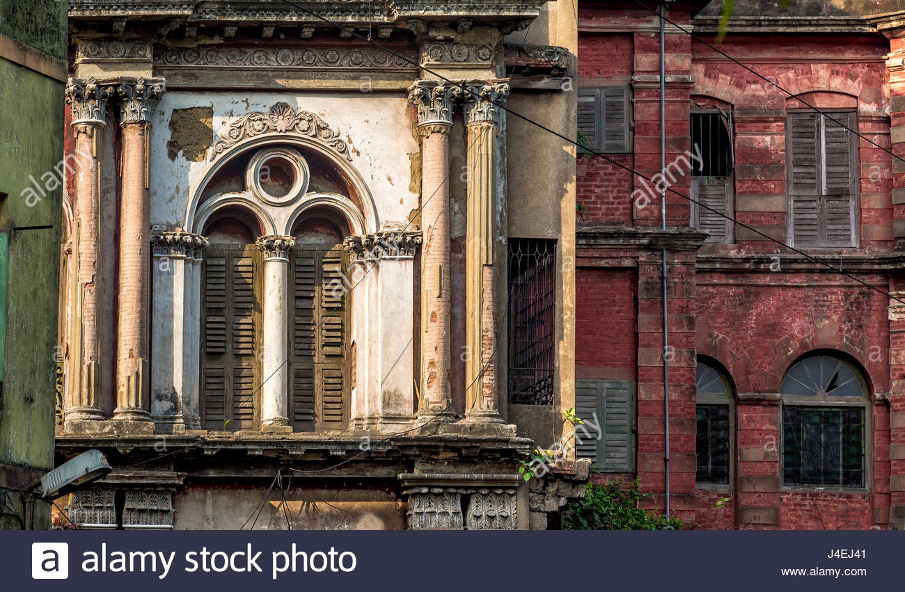 Neoclassical vintage building exterior with brick wall weathered 1300x851