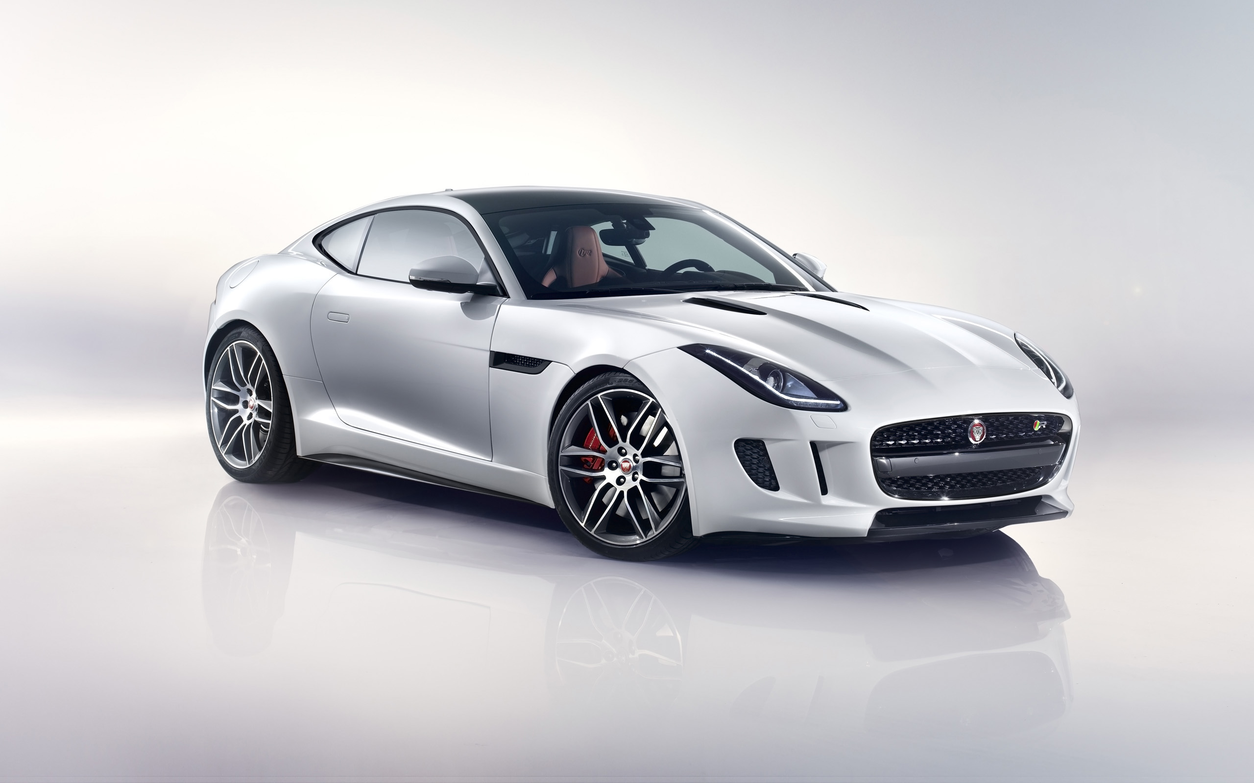 2014 Jaguar F Type R Coupe White Wallpaper HD Car Wallpapers 2560x1600