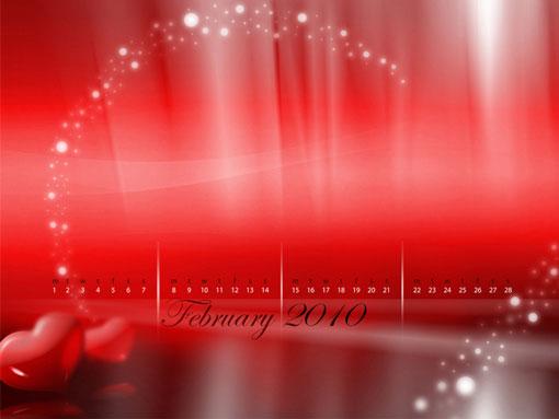 February 2010 Calendar Desktop Wallpapers Designfreebies 510x383