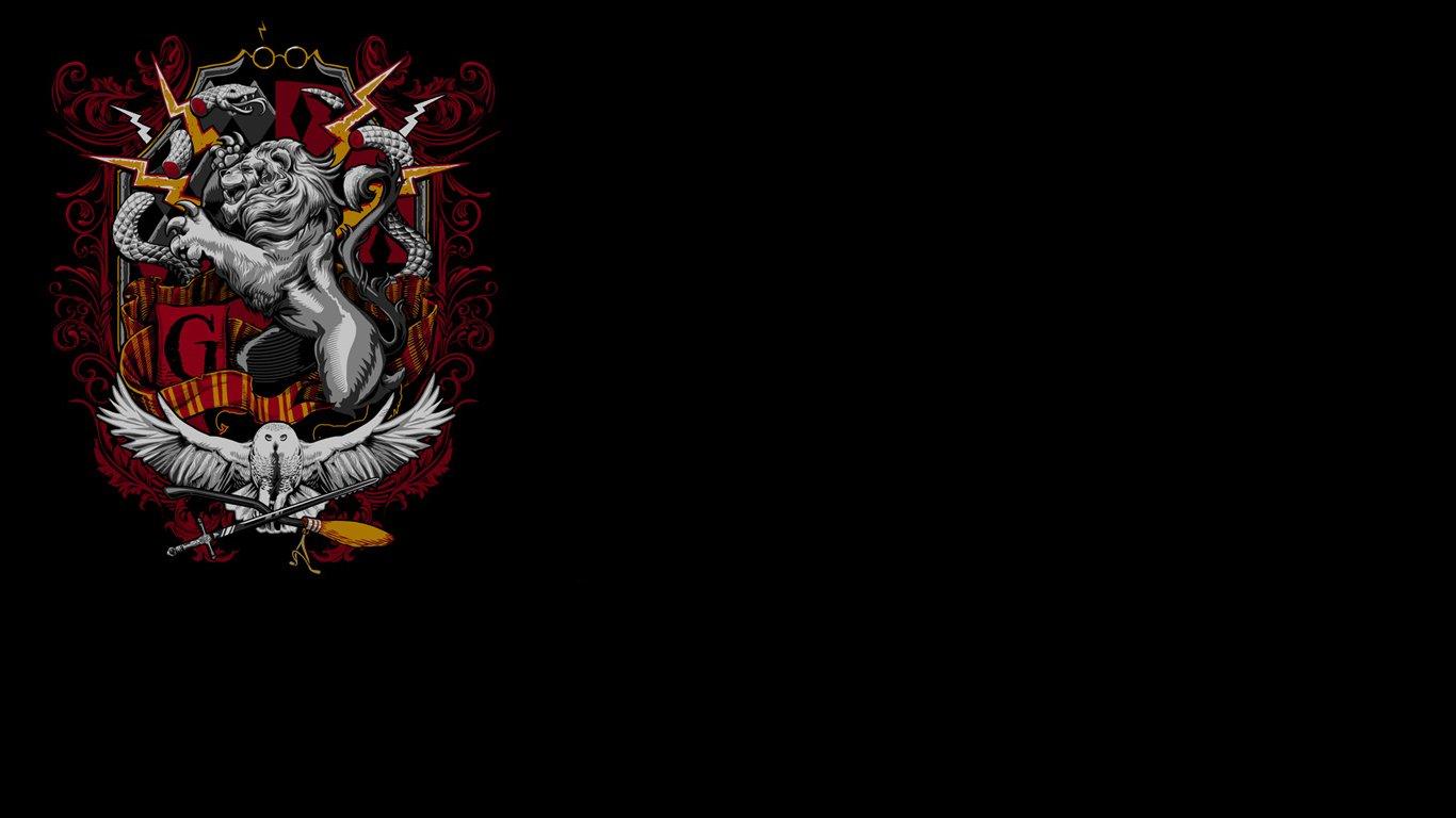 Potter Wallpaper 1366x768 Harry Potter Crest Hufflepuff Gryffindor 1366x768
