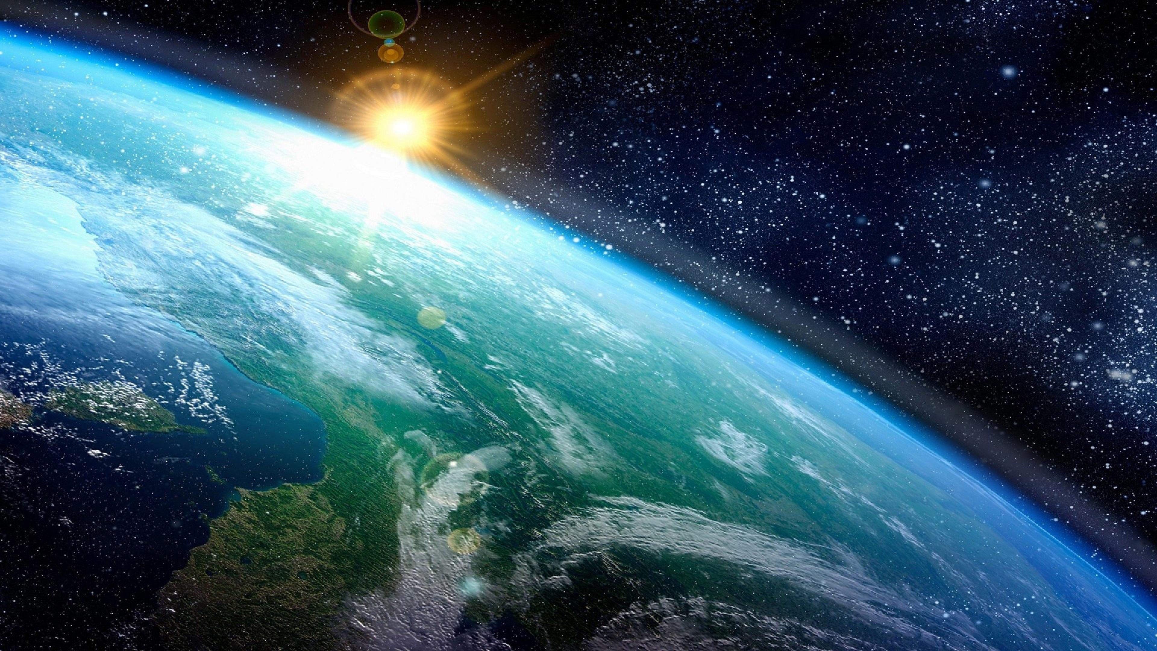Обои Восход на орбите картинки на рабочий стол на тему Космос - скачать  № 1761447 без смс
