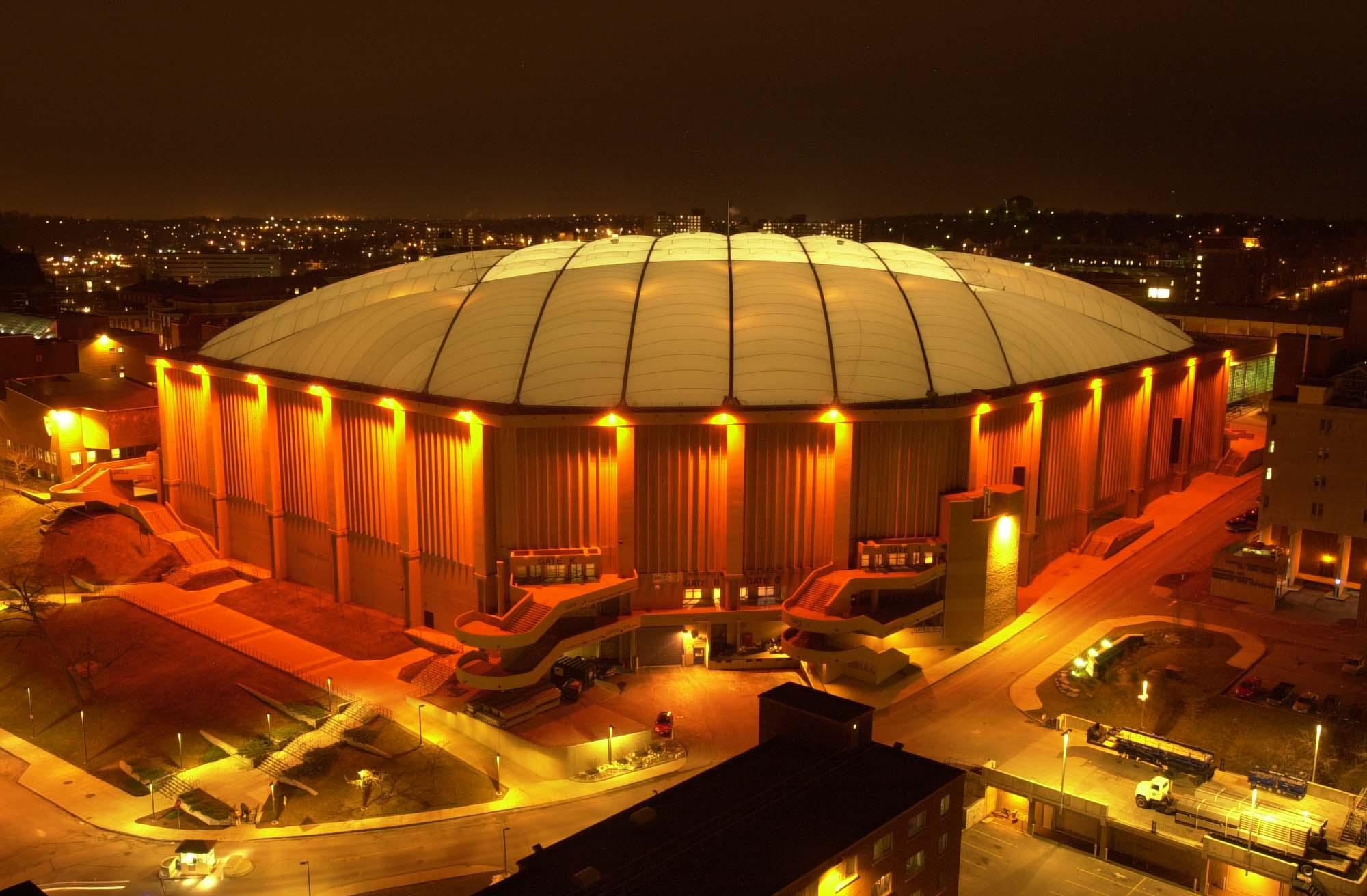 carrier dome night orange light 2000x1312