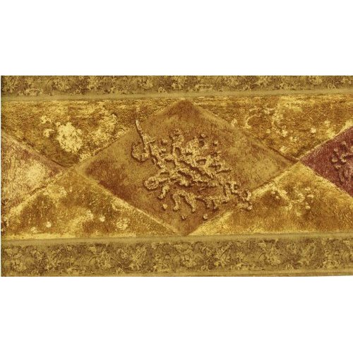 Norwall WD76847 Wallpaper Border Gold Pattern 500x500