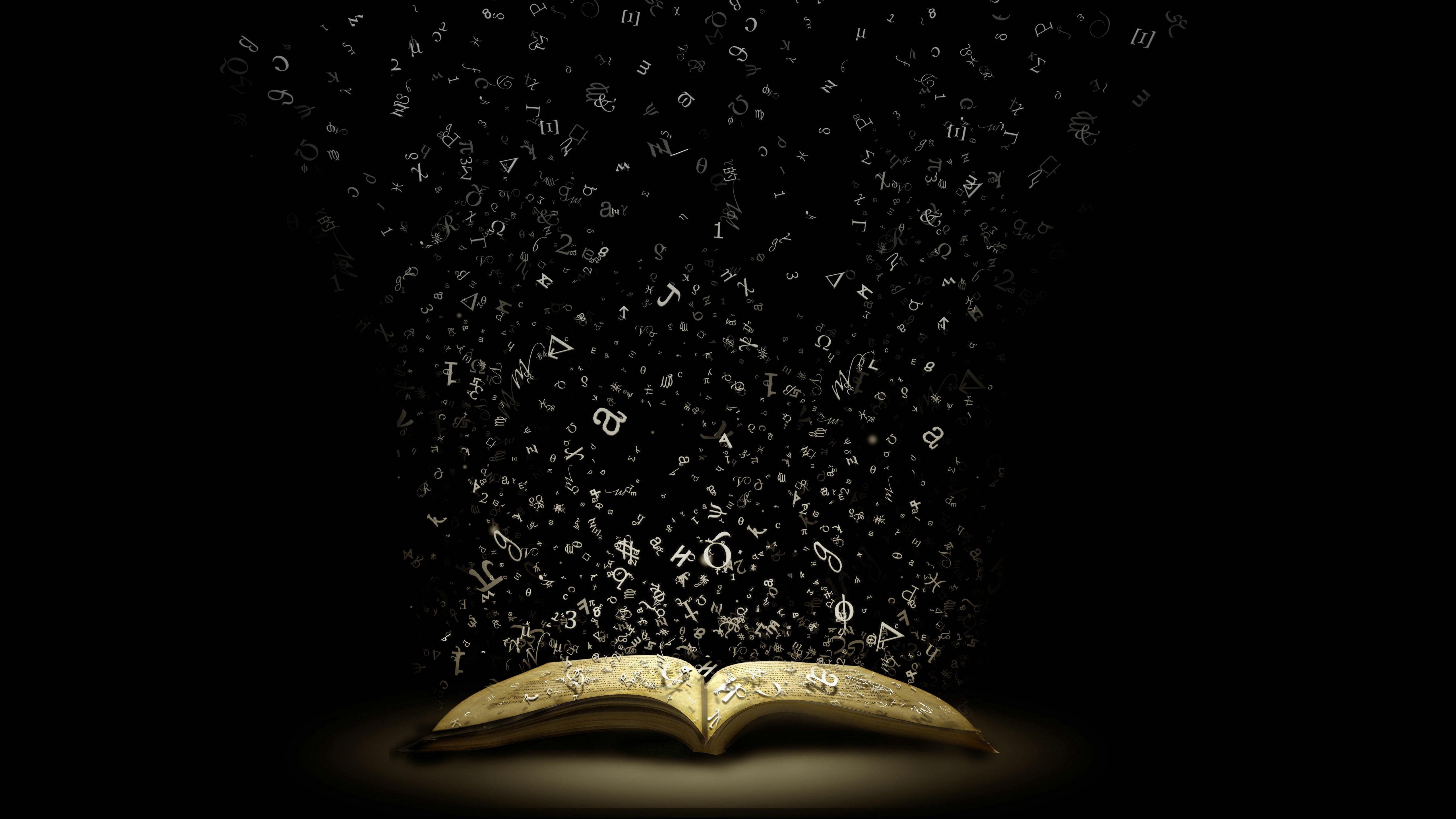 magic book wallpaper 5120x2880