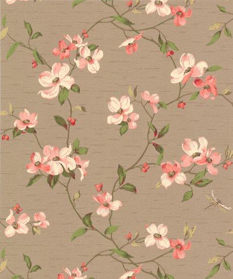 460x549px Vintage Style Floral Wallpaper Wallpapersafari