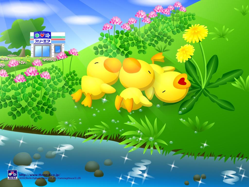 spring cartoon wallpaper - photo #6