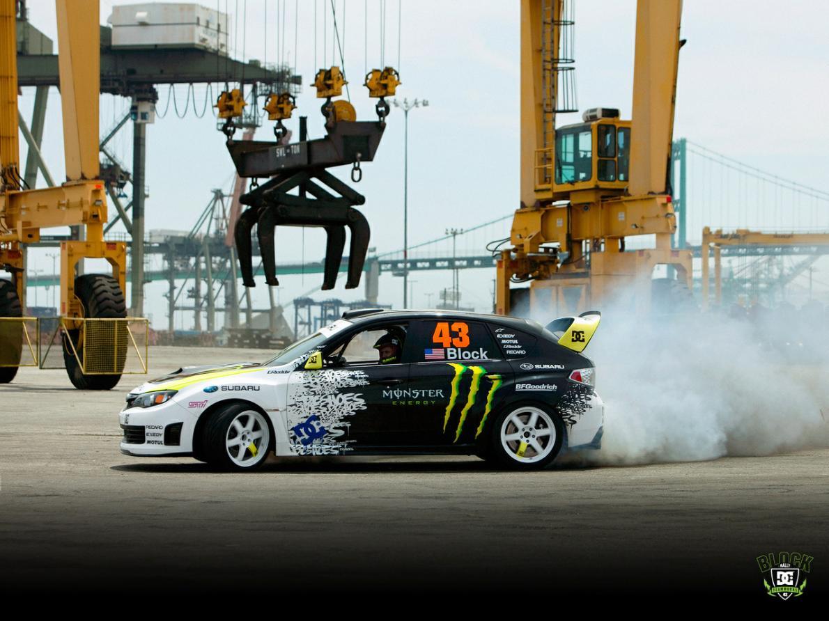 Ken Block Monster Energy Subaru Burnout Full HD Wallpaper 1190x892