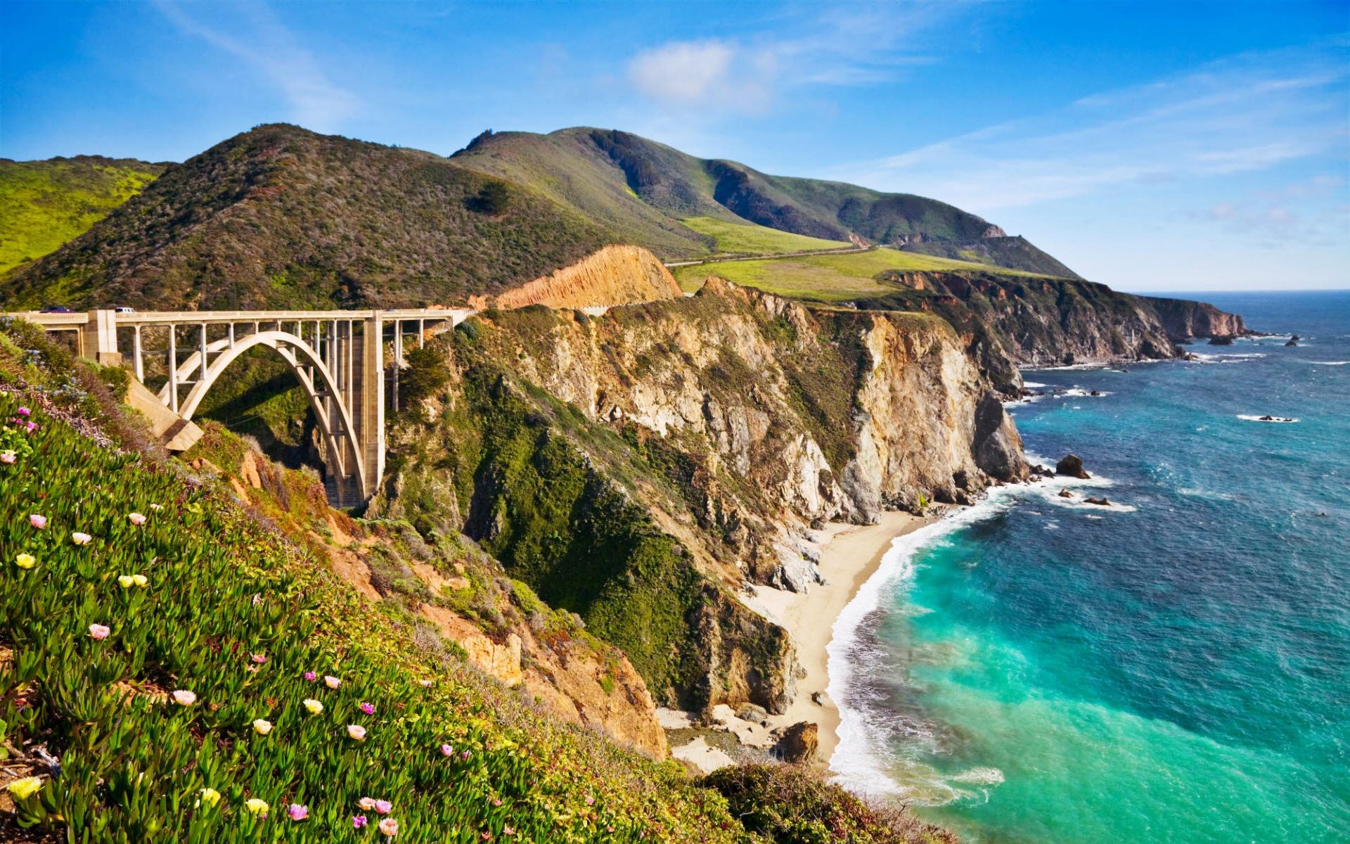 Bixby Bridge in Big Sur California Wallpapers HD Wallpapers 1920x1200