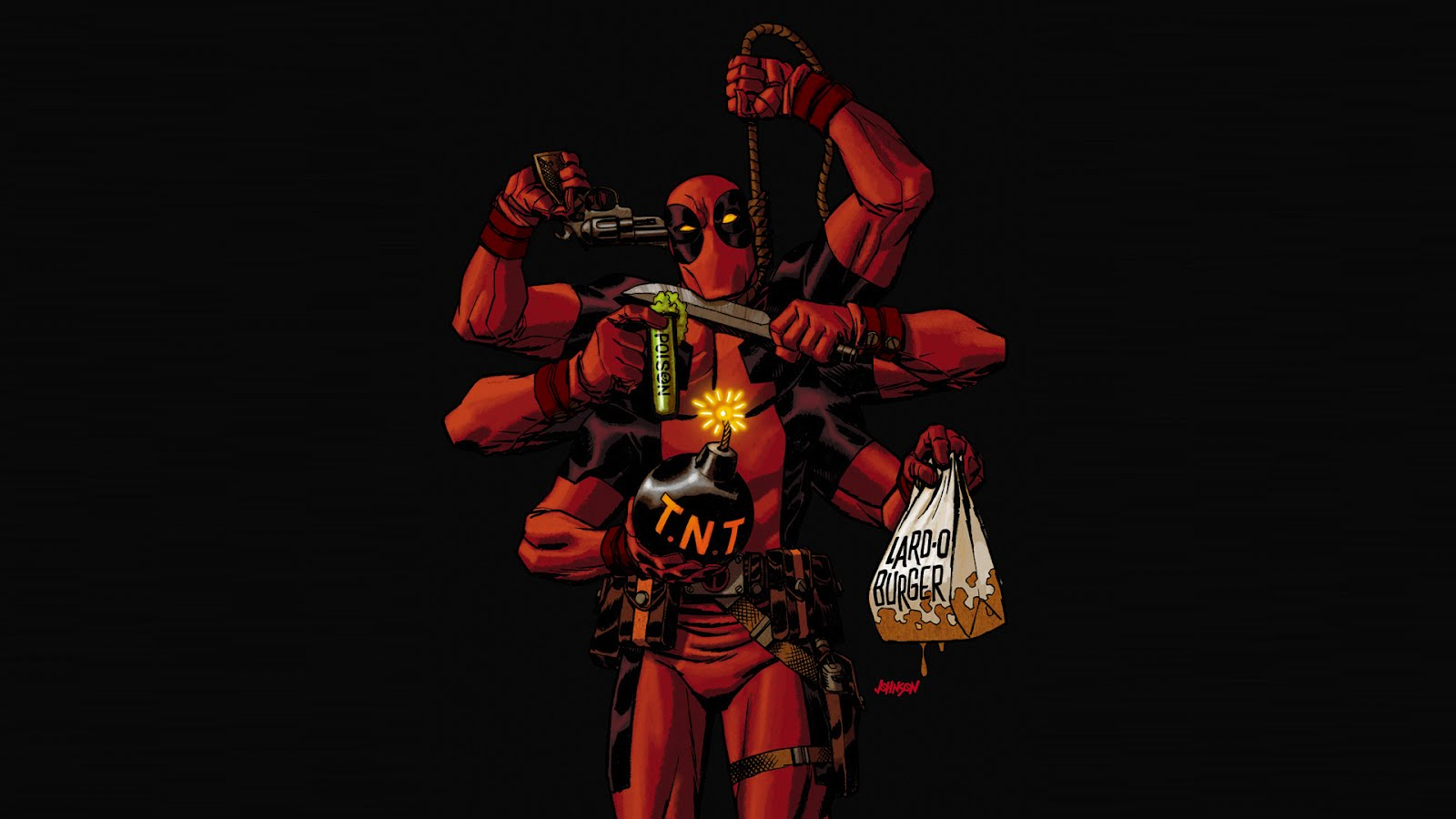 Deadpool Comic Wallpaper 1600x900