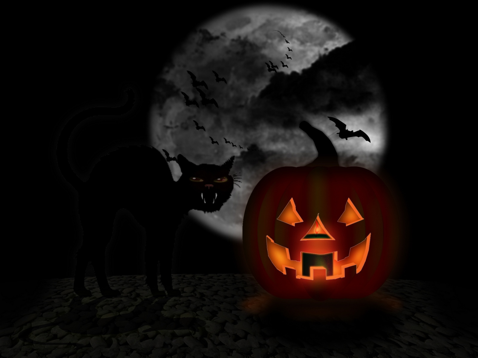 Animated Halloween Wallpaper 3 D 1600x1200