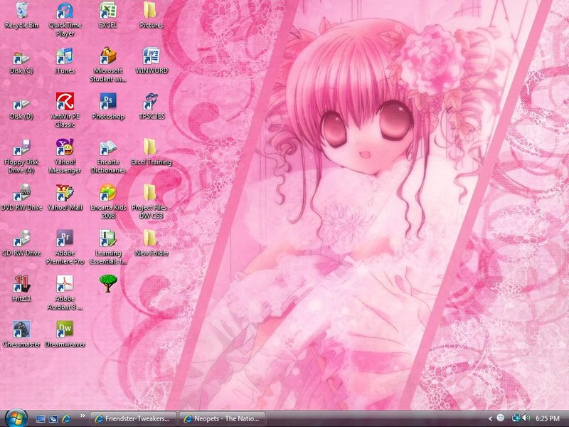 Girly wallpaper by chamiron 800x600
