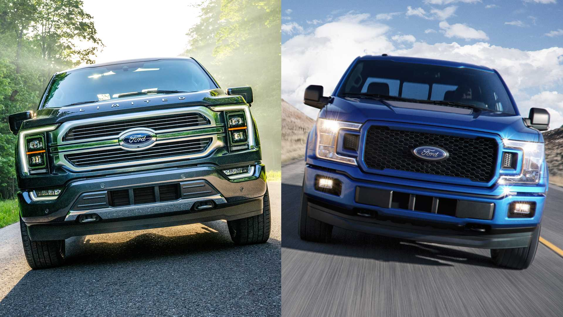 2021 Ford F 150 See The Changes Side By Side 1920x1080