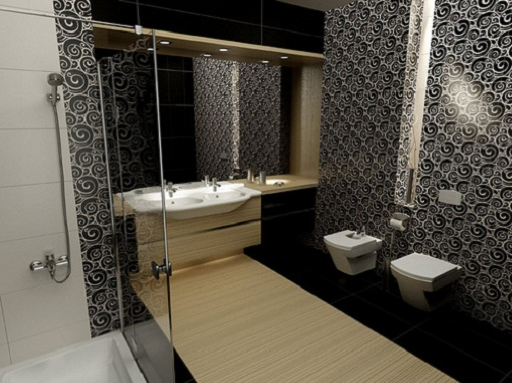 Interior decorating ideas with bathroom wallpaper 1024x766