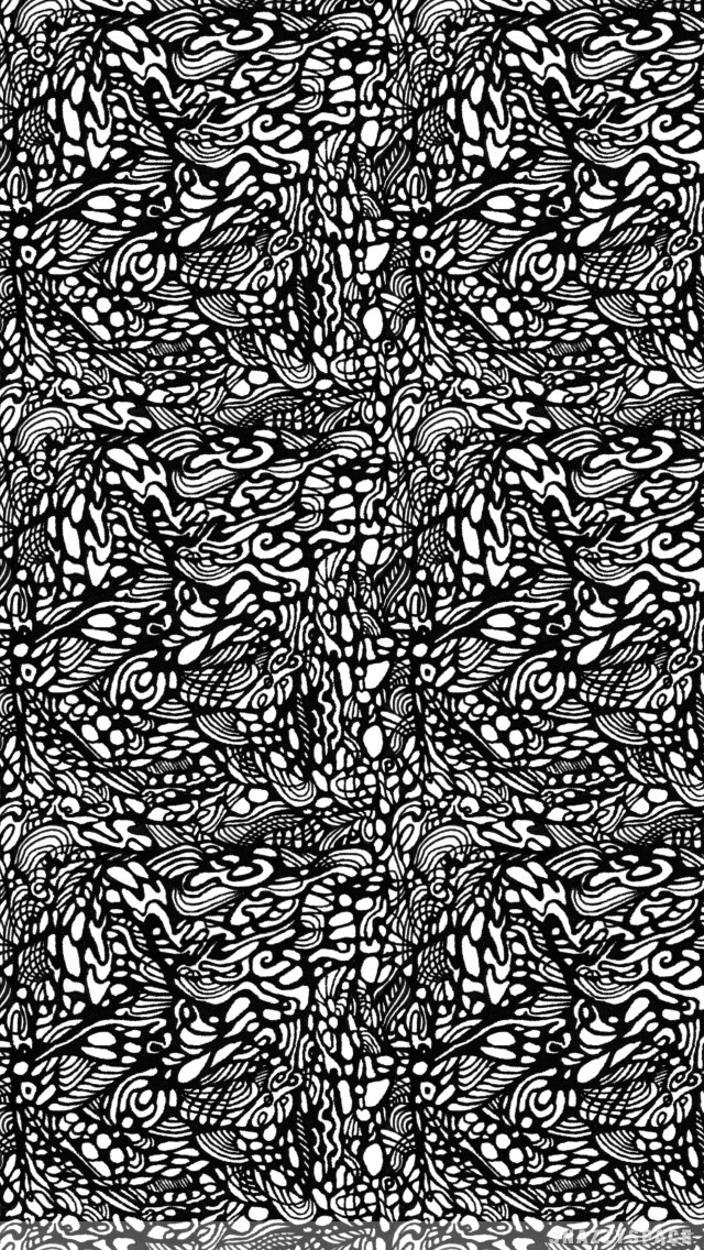 Installing this Black White Abstract iPhone Wallpaper is very easy 640x1136