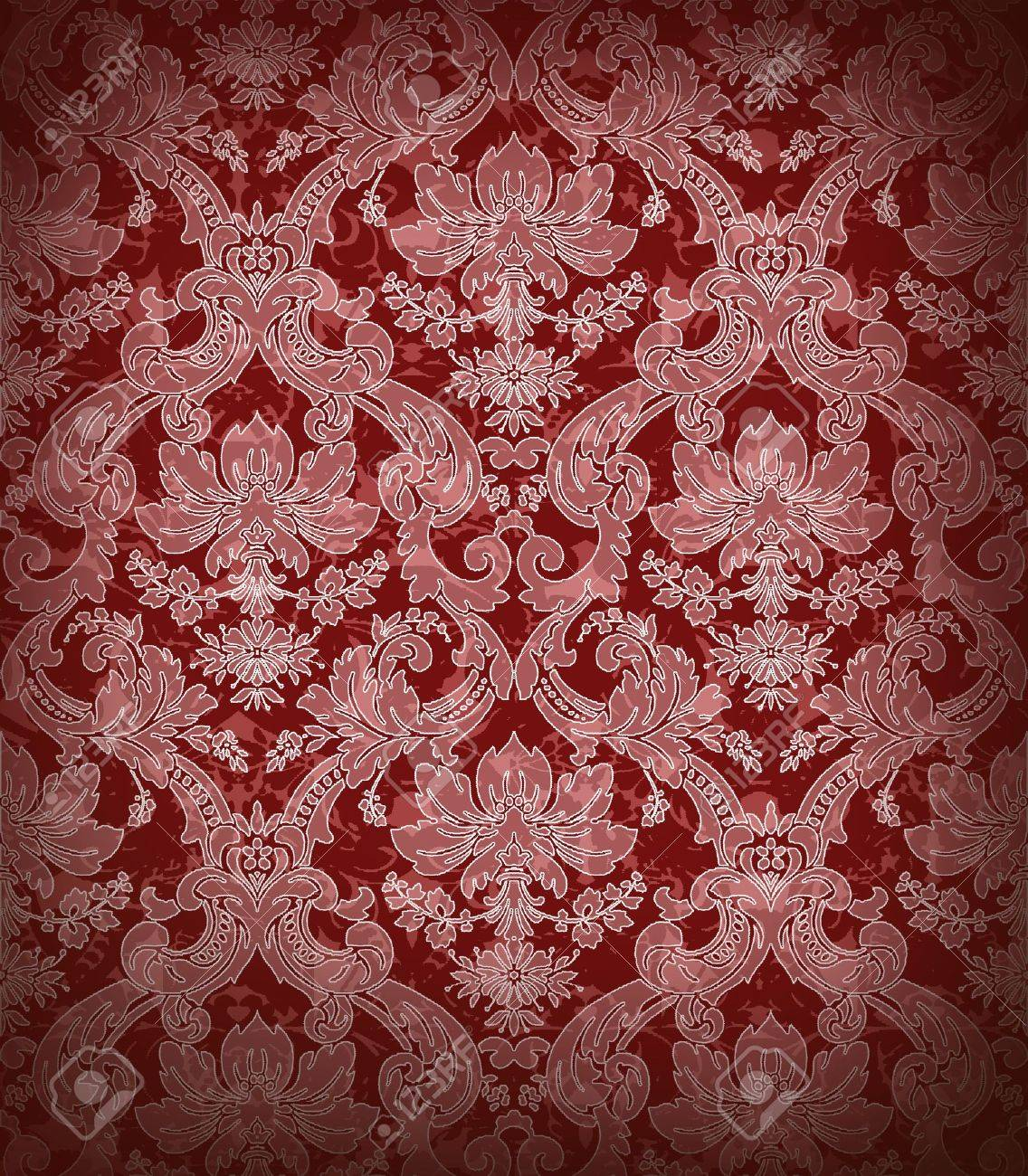 Decorative Dark Red Renaissance Background Stock Photo Picture 1136x1300