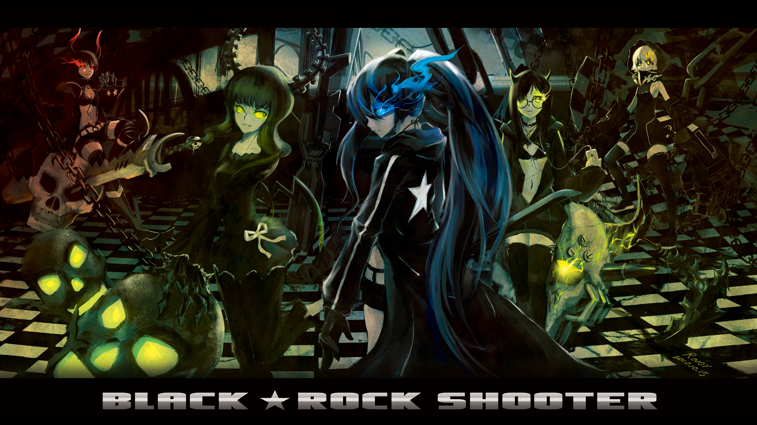 71 Strength Black Rock Shooter HD Wallpapers Background Images 2560x1440