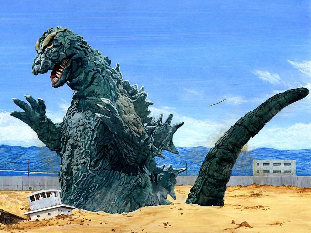 Godzilla 1954 Computer Wallpapers Desktop Backgrounds 1024x768 1024x768