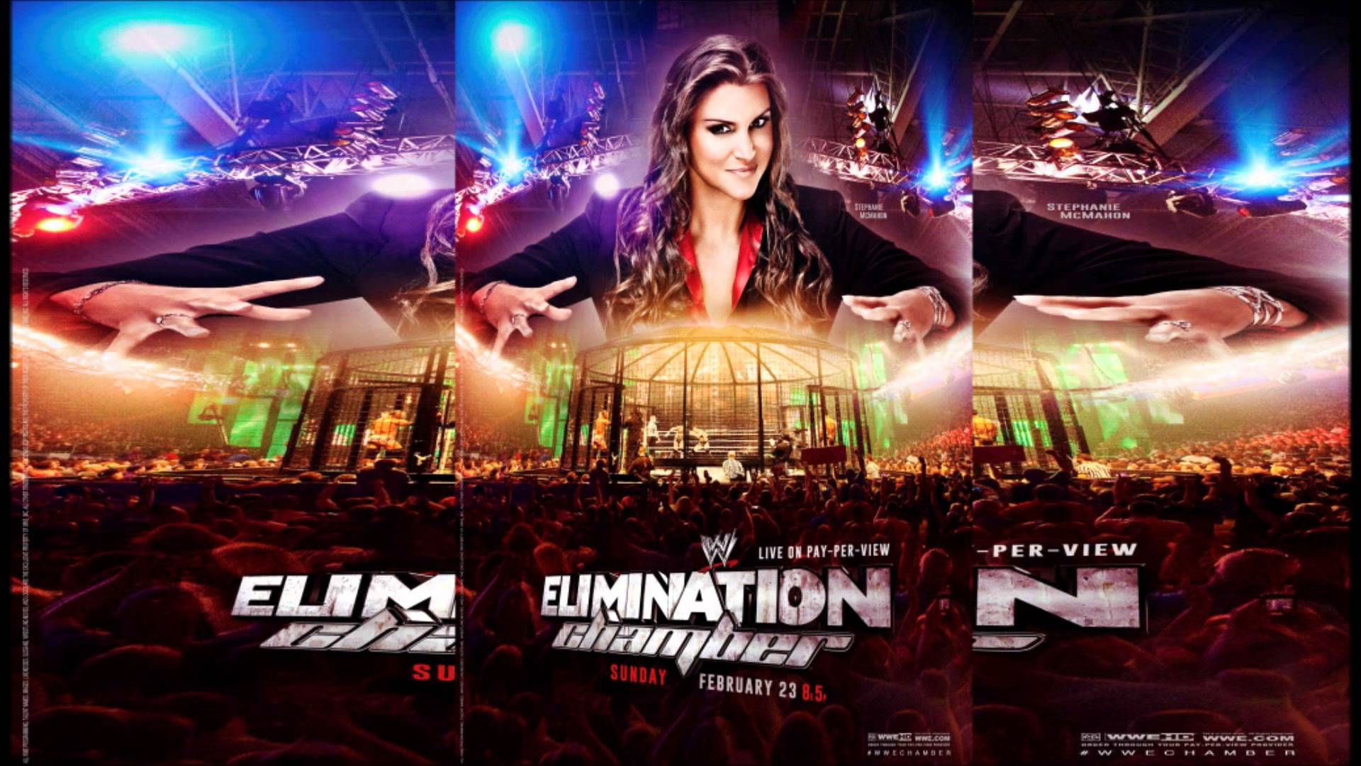 WWE Elimination Chamber 2014 Official Poster 1920x1080