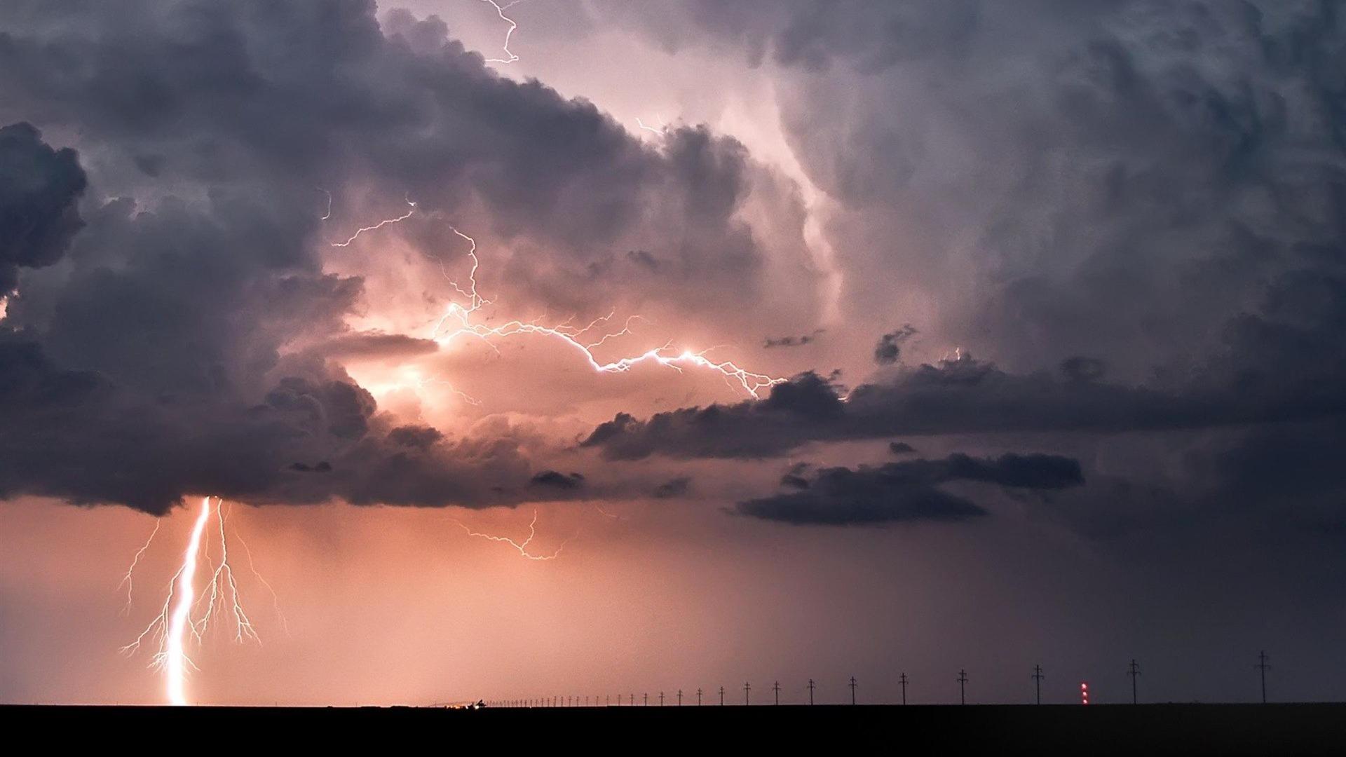 Thunderstorm Wallpaper 1920x1080px #905036