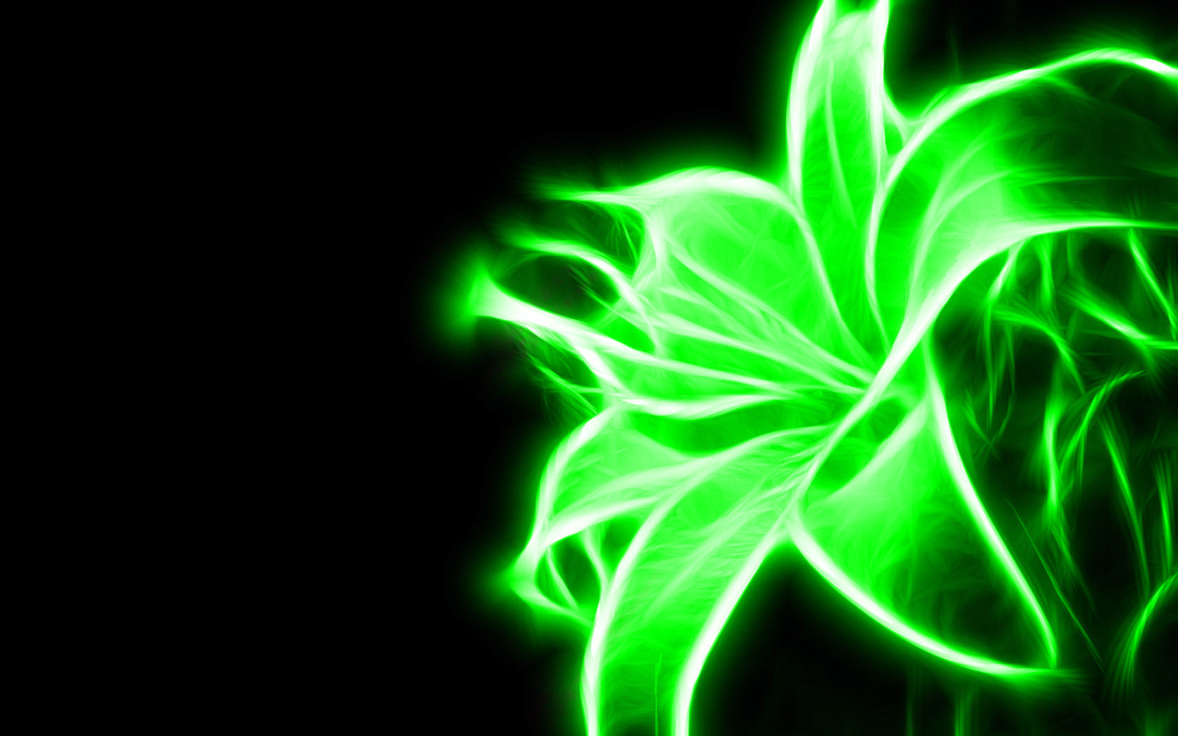 Neon Green Flower   Green Wallpaper 20988898 1680x1050
