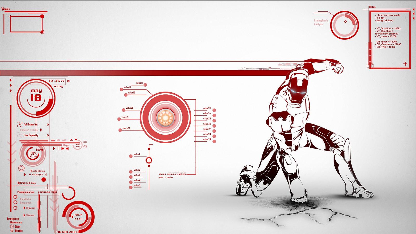 Iron Man Jarvis Wallpaper Hd Ironman jarvis 1600x900