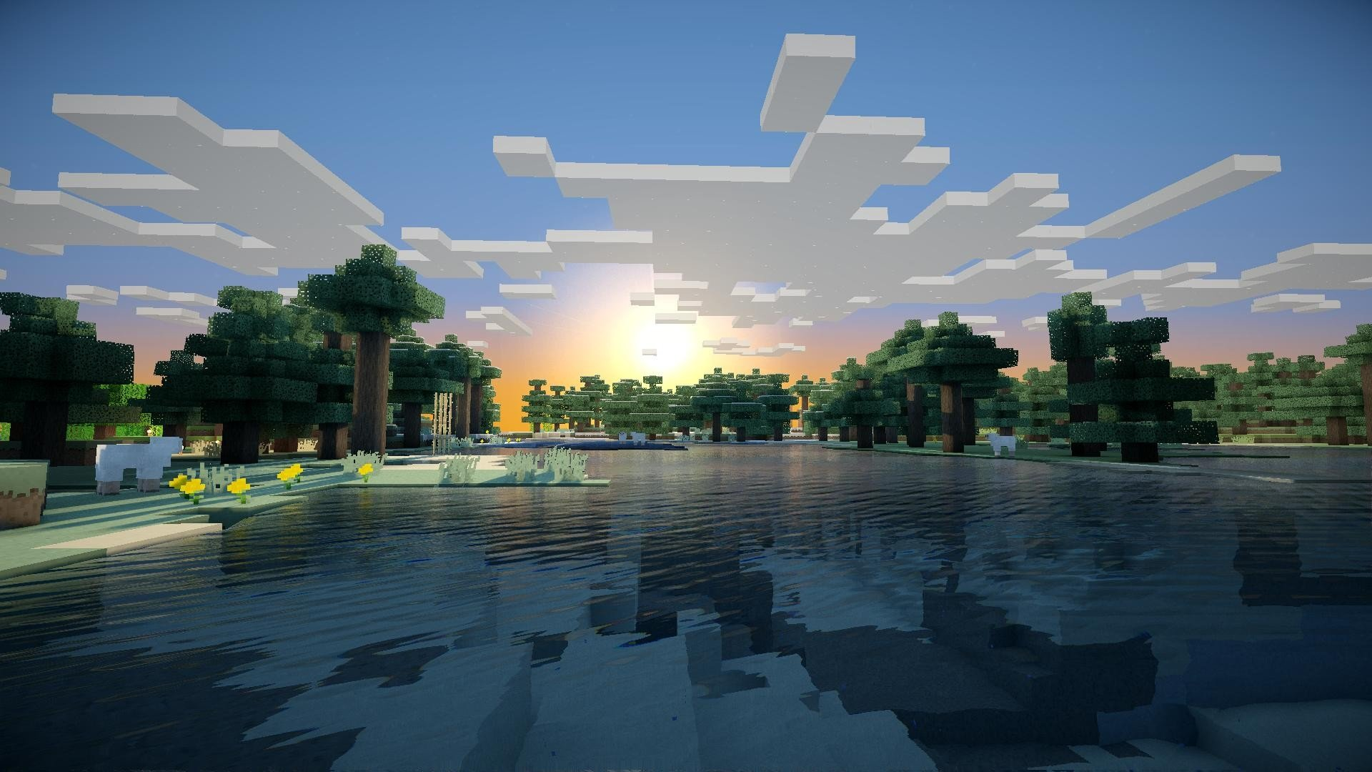Fond Minecraft Shader Hd