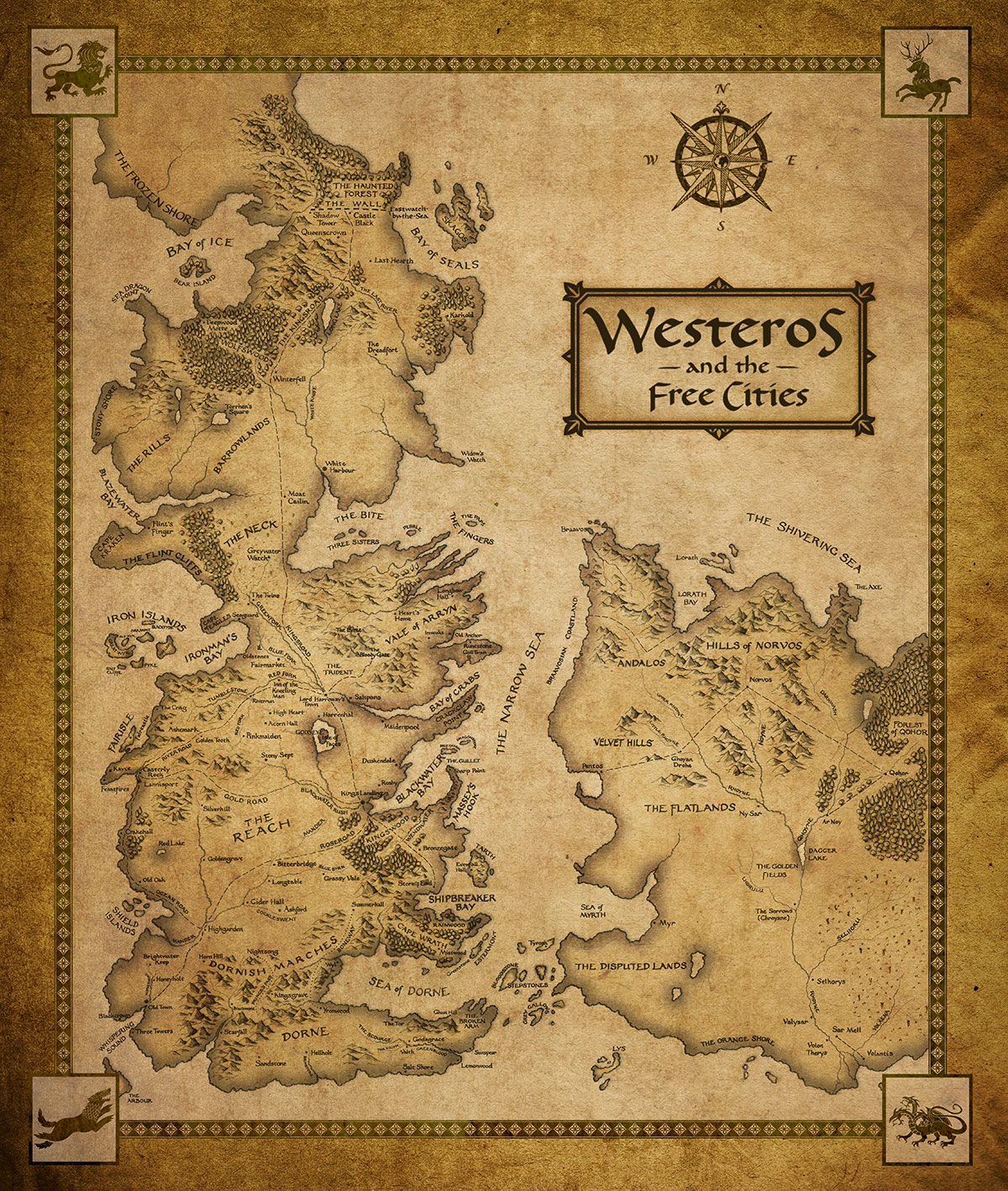 Free Download Game Of Thrones Images Westeros And The Cities Map