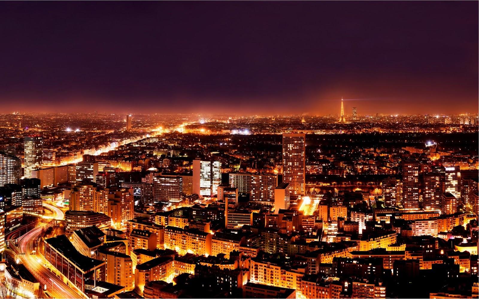 Paris Paris at Night Wallpaper 1600x1000