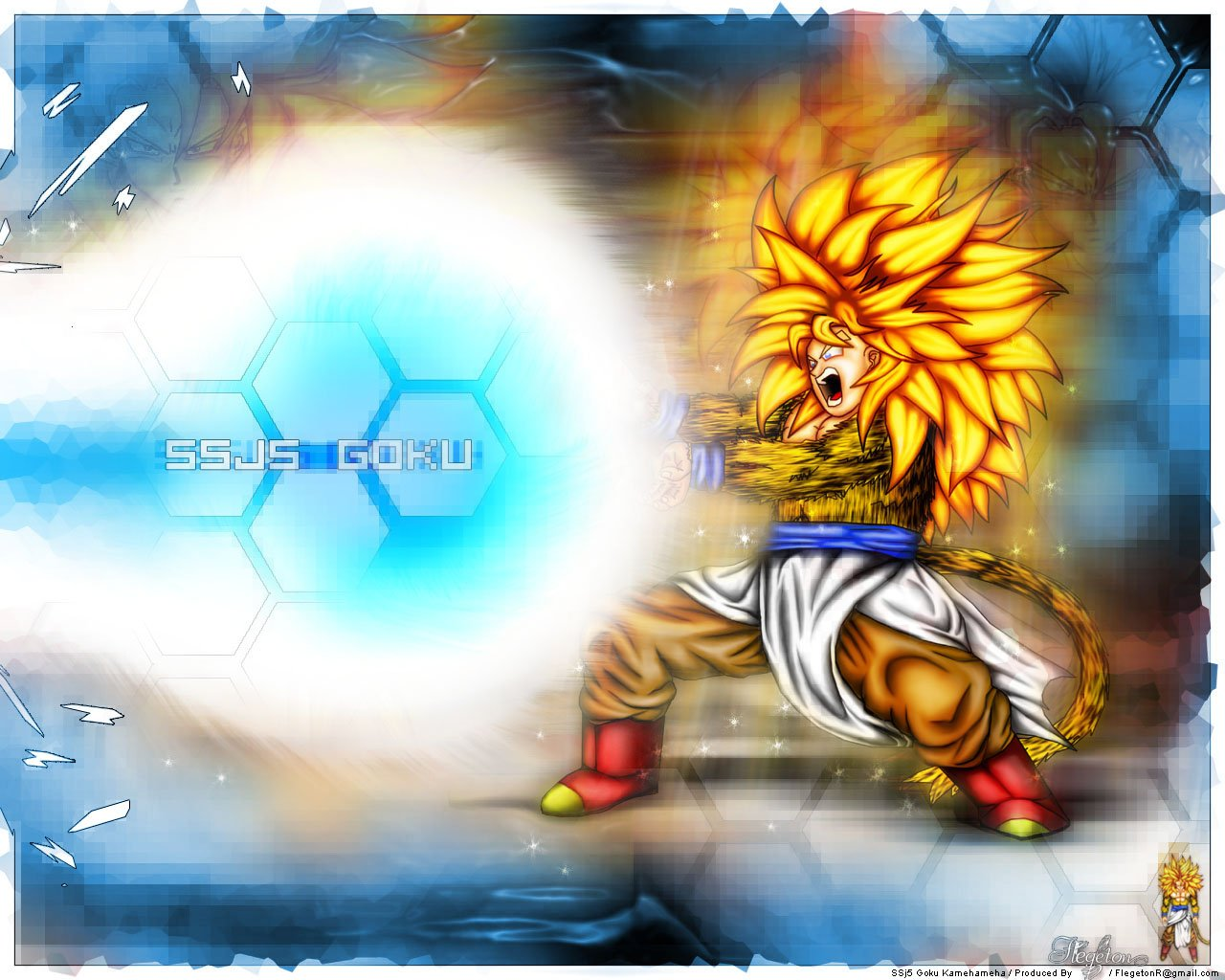SSJ5 Goku kamehameha by Flegeton 1280x1024