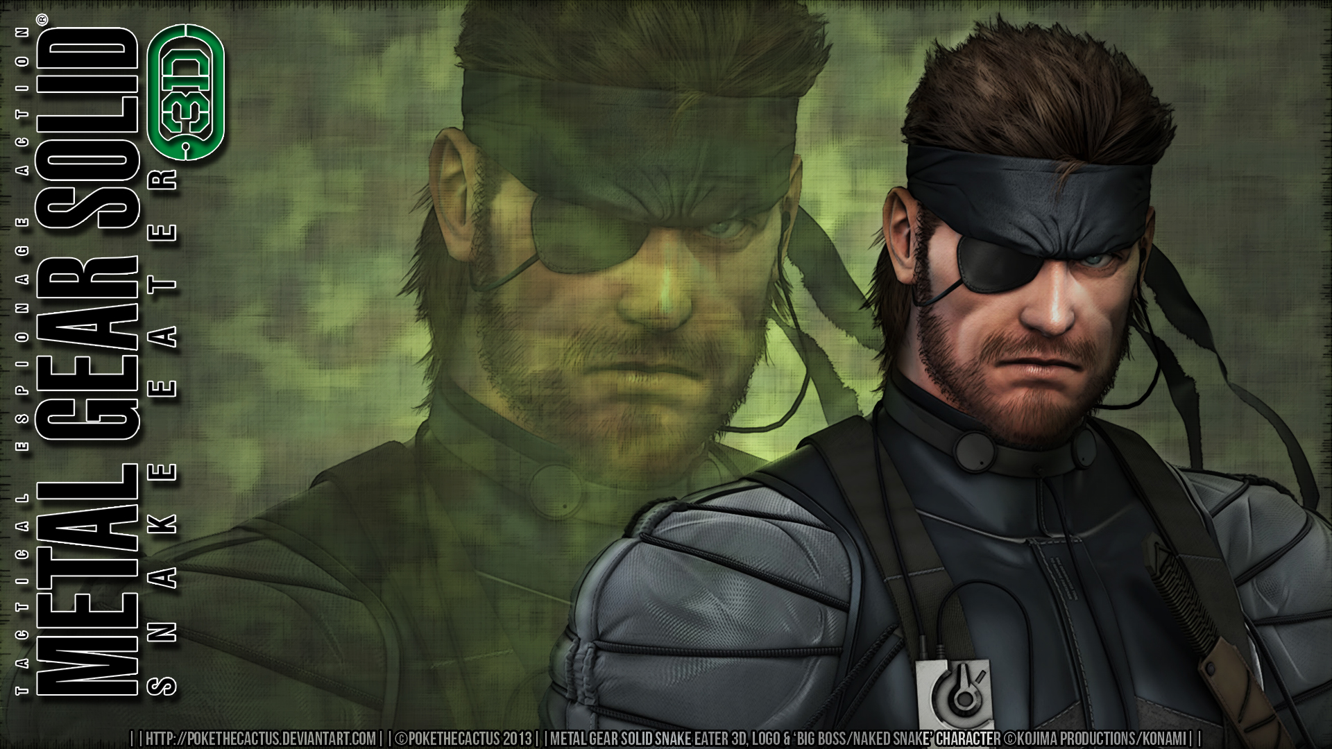 Free Download Big Boss Mgs3d Hd Wallpaper By Pokethecactus