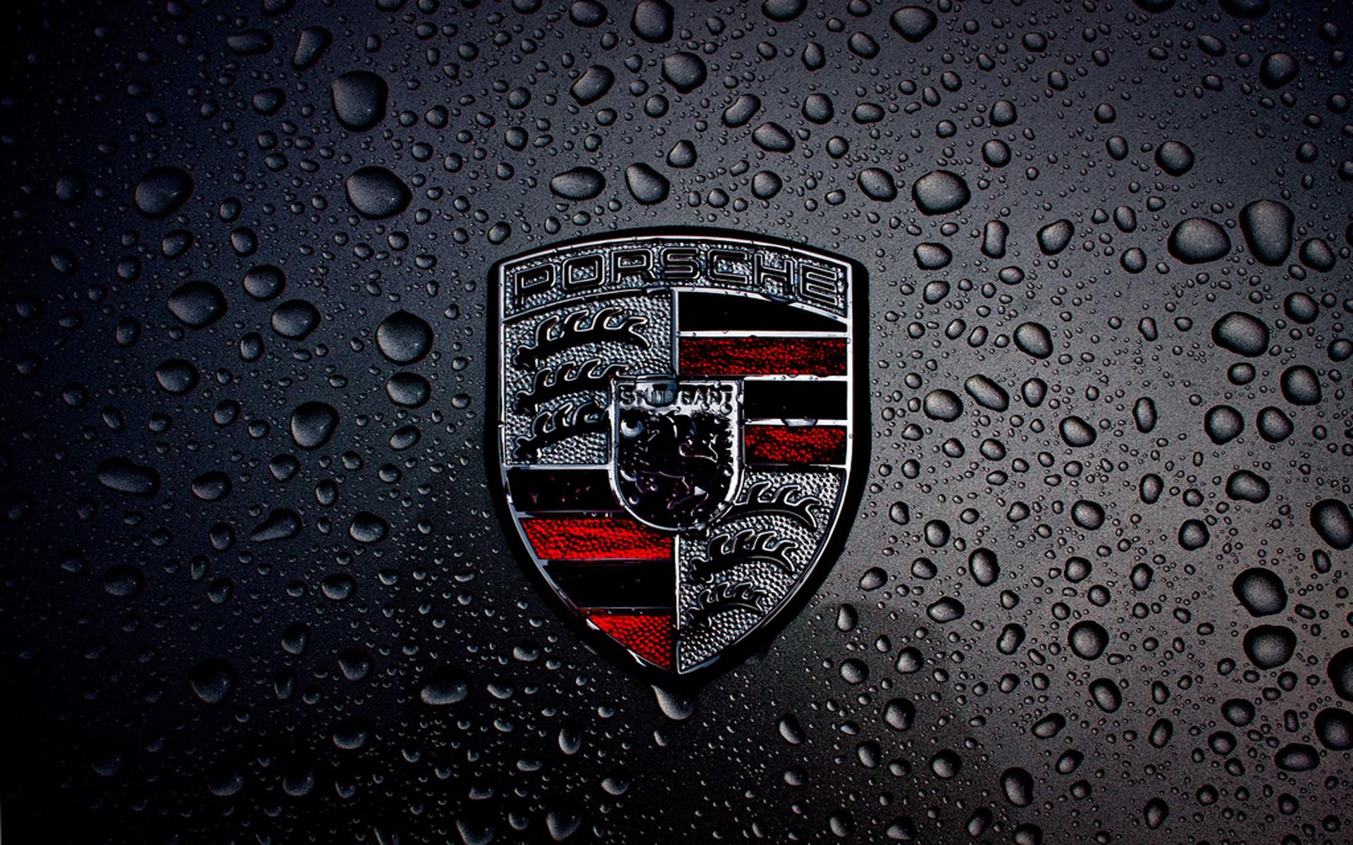 Hd wallpaper logo - Dark Porsche Logo Wallpaper