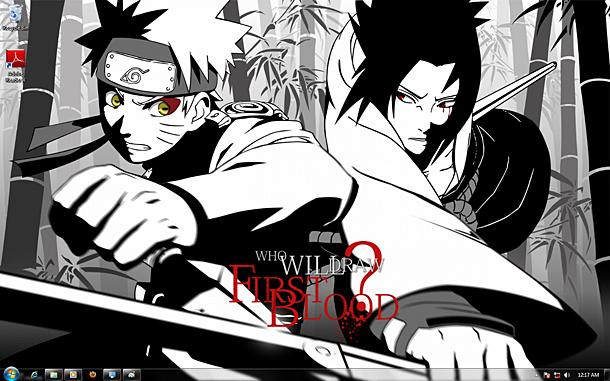 Download Naruto Theme Dan Wallpaper Untuk Windows 7 Klik Kanan 610x381