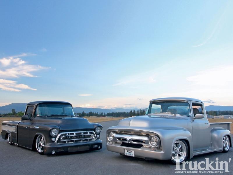1957 Chevrolet Bel Air retro muscle hot rod rods d wallpaper ...