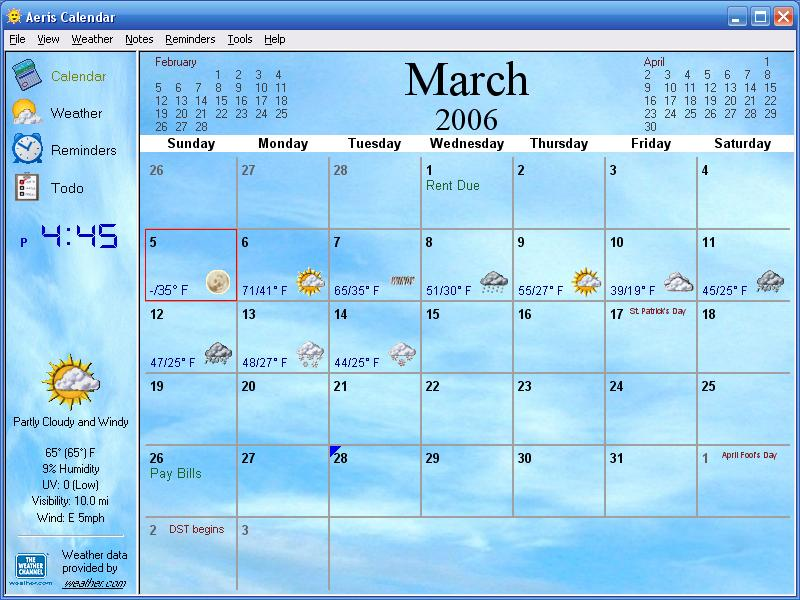 Free Download Screenshot Aeris Calendar Desktop Calendar Weather 800x600 For Your Desktop Mobile Tablet Explore 47 Interactive Weather Desktop Wallpaper Weather Pictures For Wallpaper Free Weather Wallpapers Live Weather