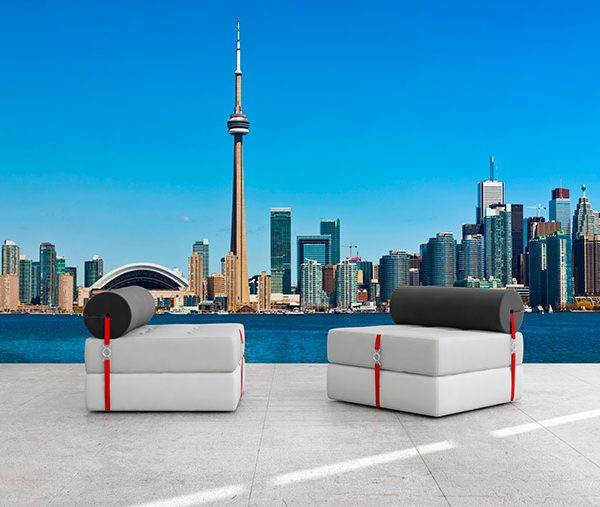 Toronto Skyline Wall Decal Wall decals and stickers toronto 600x507