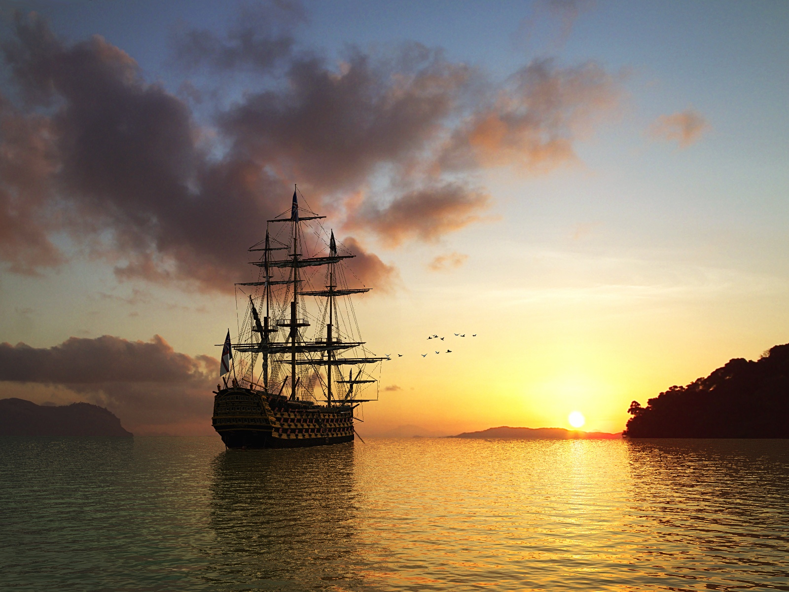 3D Sailing Ship 1600 x 1200 Pixel HD Wallpapers Part 1 1600x1200