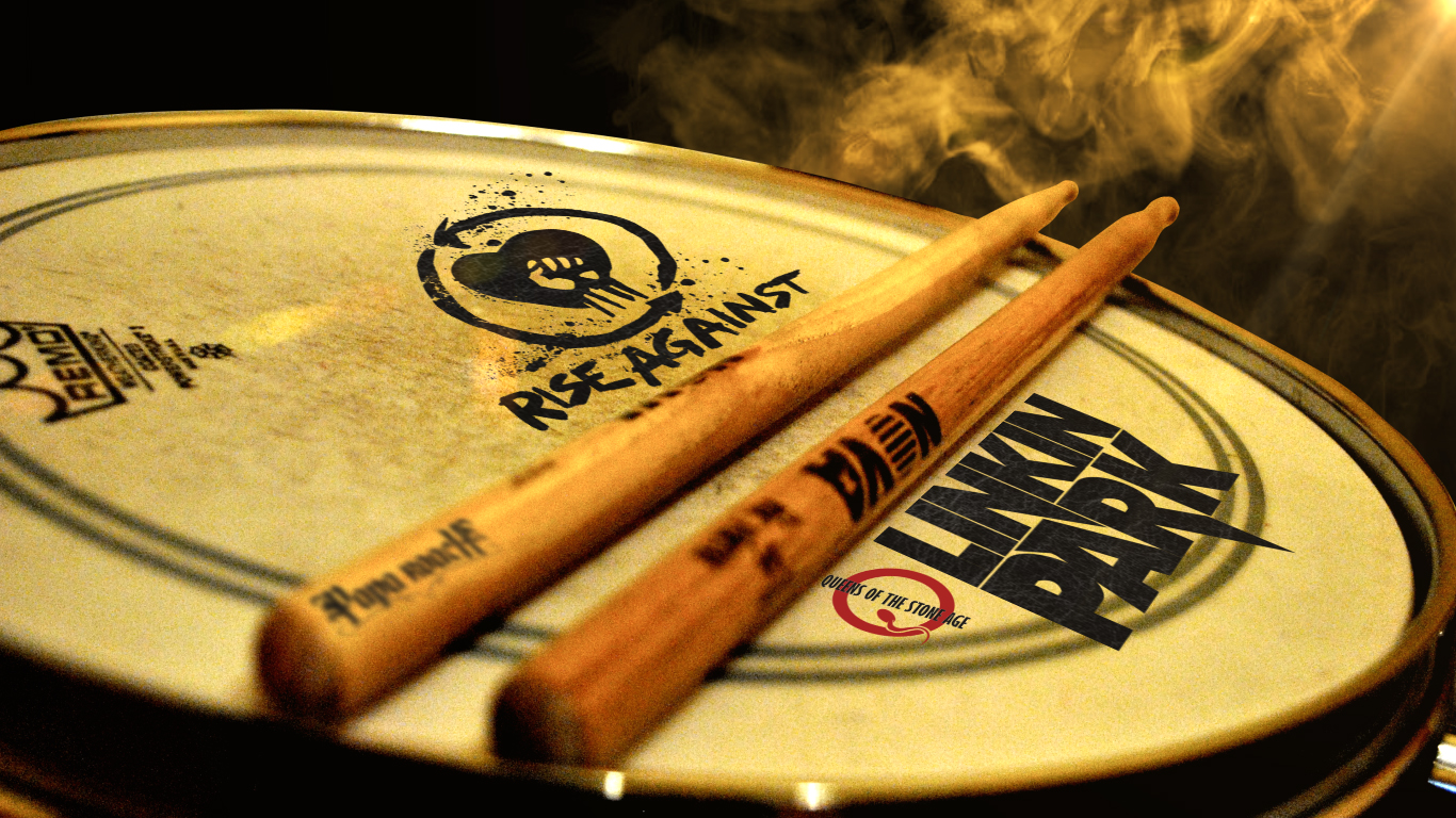Pin Drum Art Wallpaper Music 1366x768