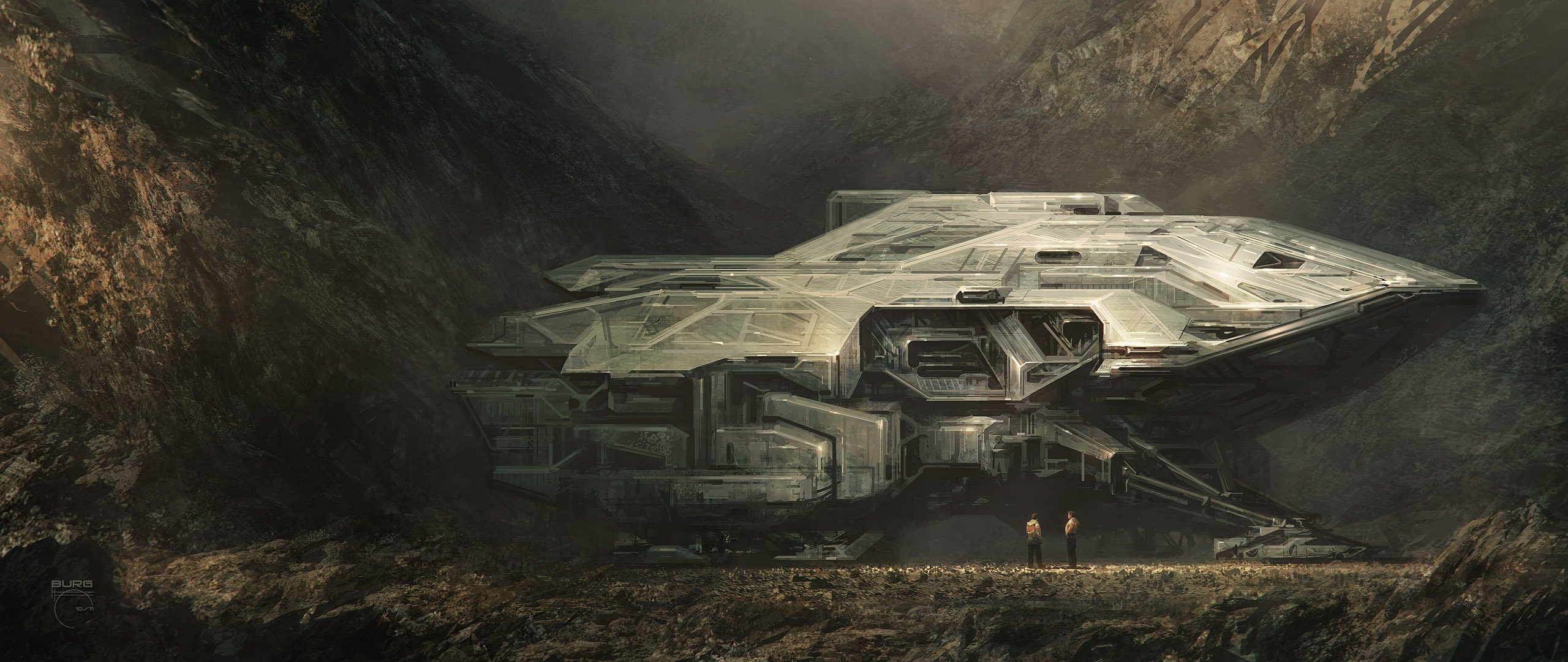 Download Alpha Coders Wallpaper Abyss Sci Fi Spaceship 264905 2560x1080