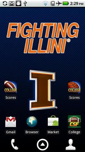 licensed University of Illinois Fighting Illini Live Wallpaper 288x512