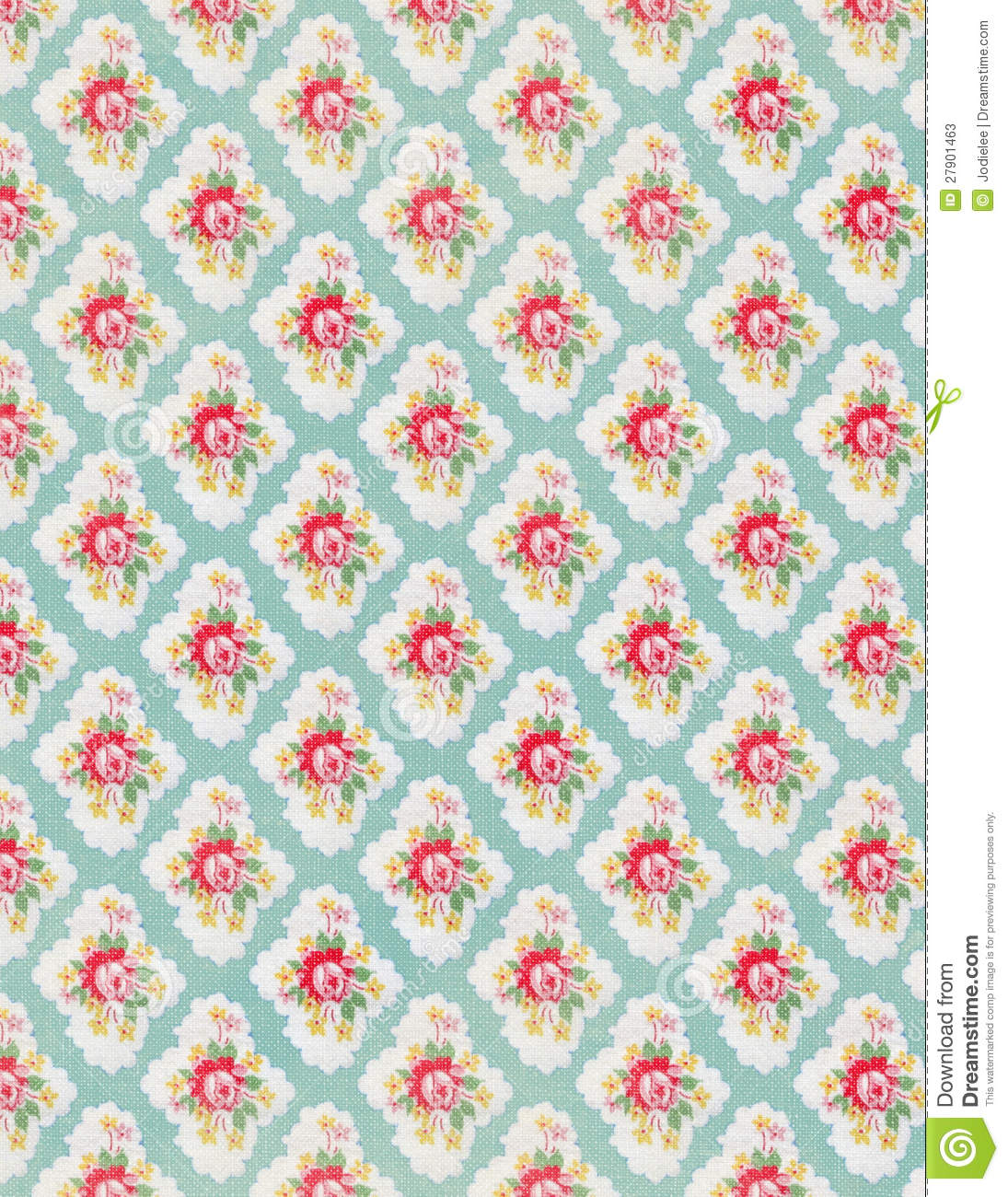 Free Download Vintage Floral Wallpaper Rose Repeat Pattern By