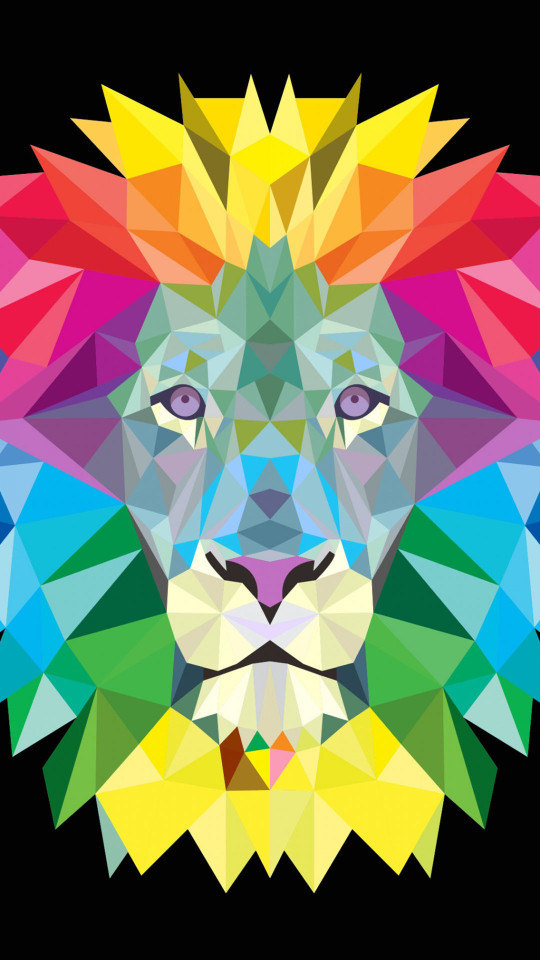 Polygon Lion Wallpaper   iPhone Wallpapers 540x960