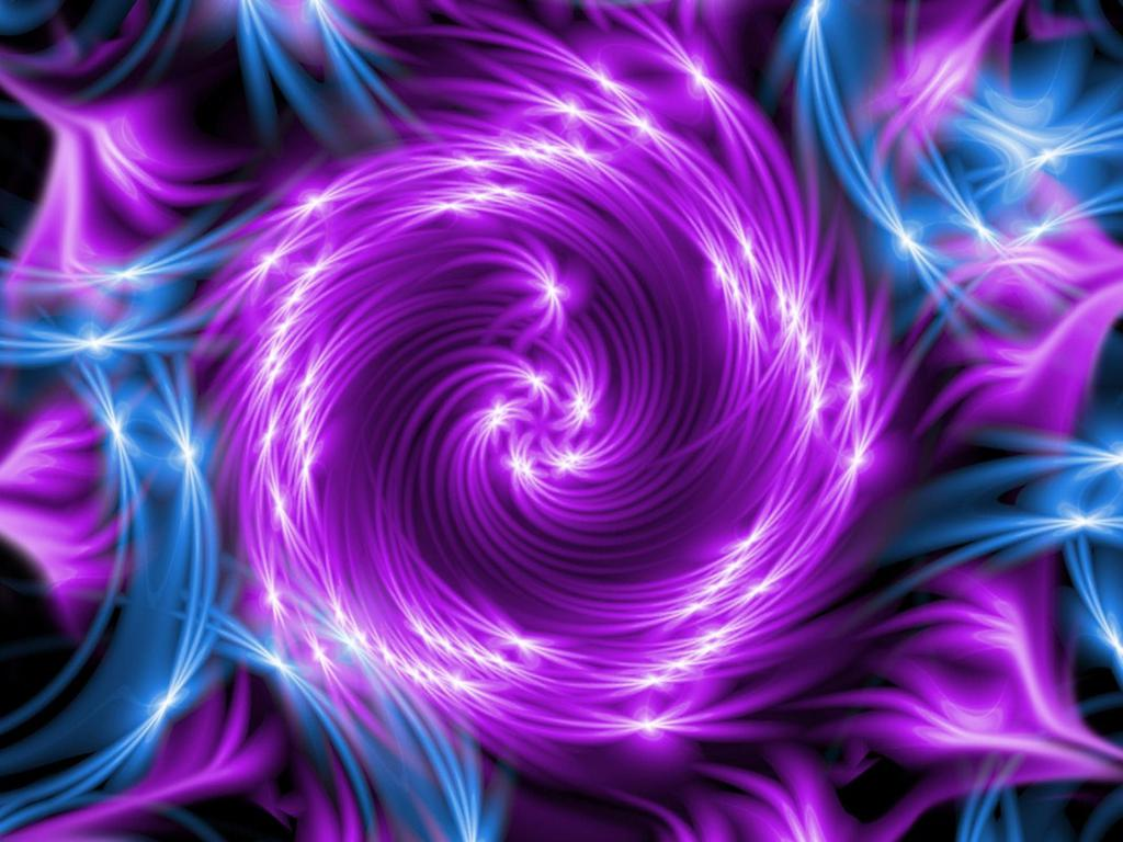 Blue And Purple Abstract Wallpaper