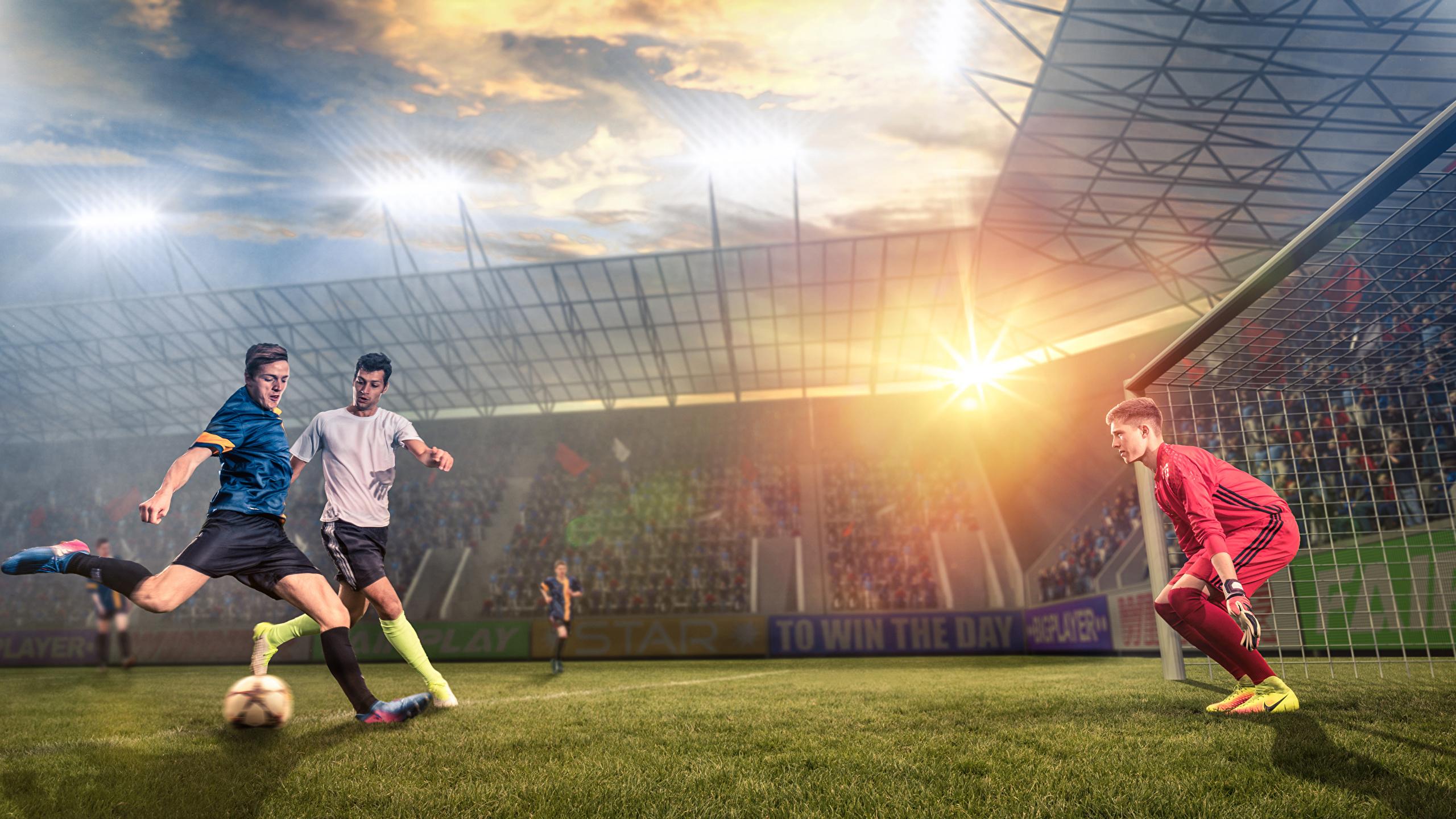 Desktop Wallpapers Man Goalkeeper football sports 2560x1440 2560x1440