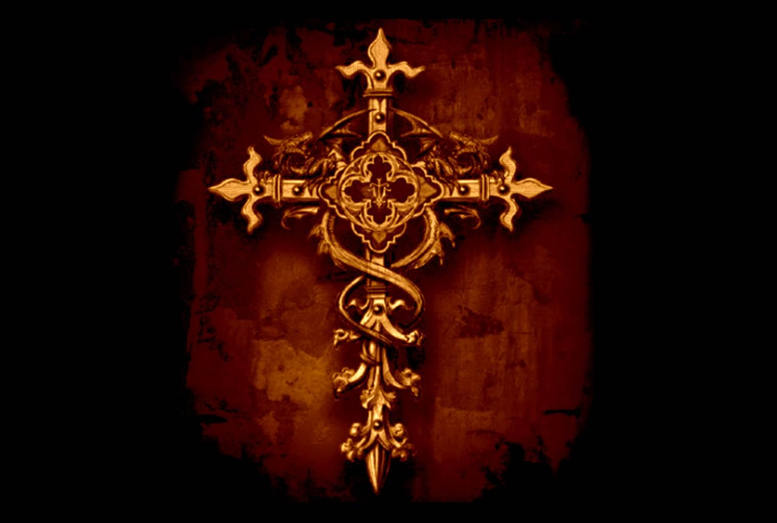 Backgrounds   Golden Cross Graphic Background Wallpaper Christian 1519x1024