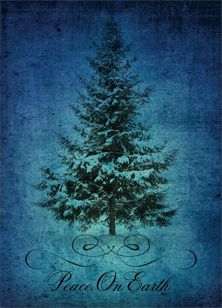 Peace on Earth Tree   Christmas Cards from CardsDirect 750x1041