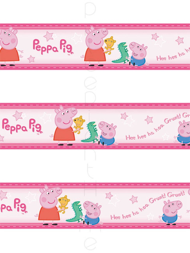 Details about PEPPA PIG GEORGE SELF ADHESIVE WALLPAPER BORDER NEW 769x1024